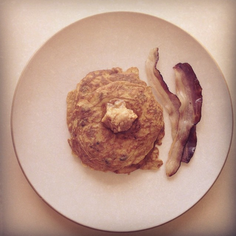 Carrot and raisin pancakes