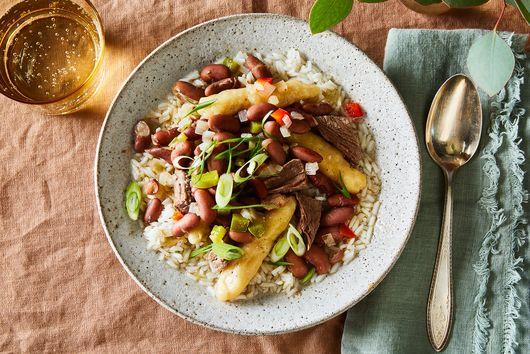 Samantha Davis' Stew Peas & Spinners