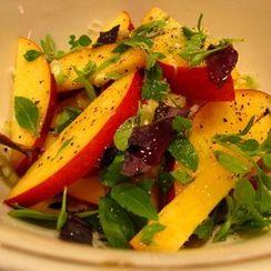 Nectarine and basil salad
