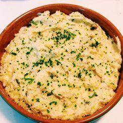 Roasted Garlic and Goat Cheese Mashed Potatoes