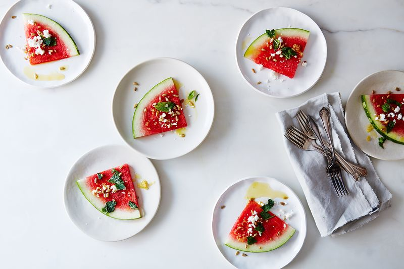 Watermelon with Preserved Lemon Vinaigrette