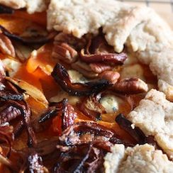 Butternut Galette with Pecans, Roasted Onions, and Blue Cheese
