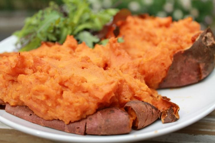 Thai'ce Baked Sweet Potatoes