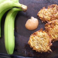 Green banana latkes