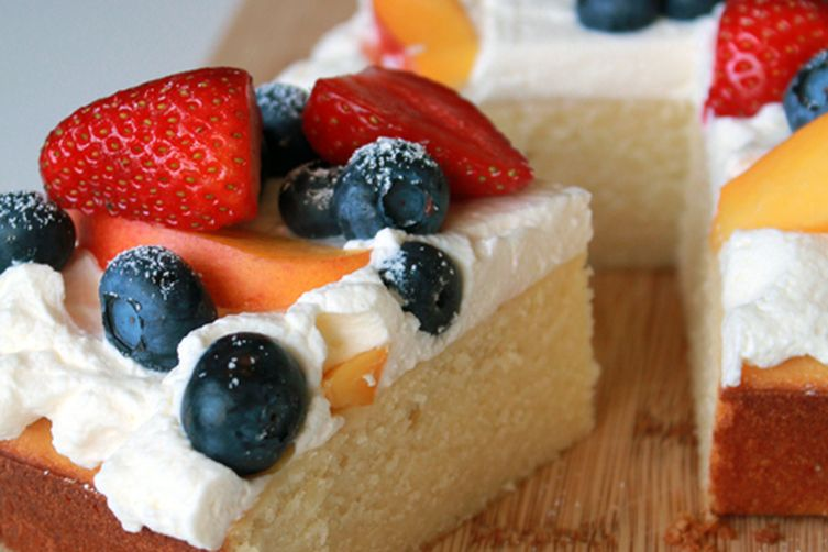 Summer fruit chiffon cake