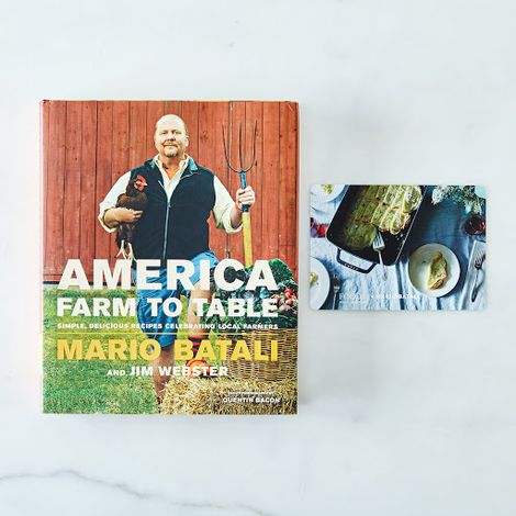 Farm to Table, by Mario Batali, Signed Copy + Exclusive Holiday Recipe Card