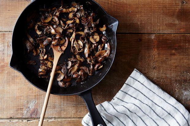 Sherried Mushroom Clafoutis