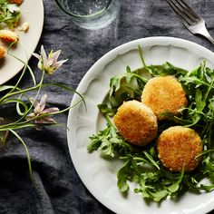 Cheesy Fritters & Simple Salad