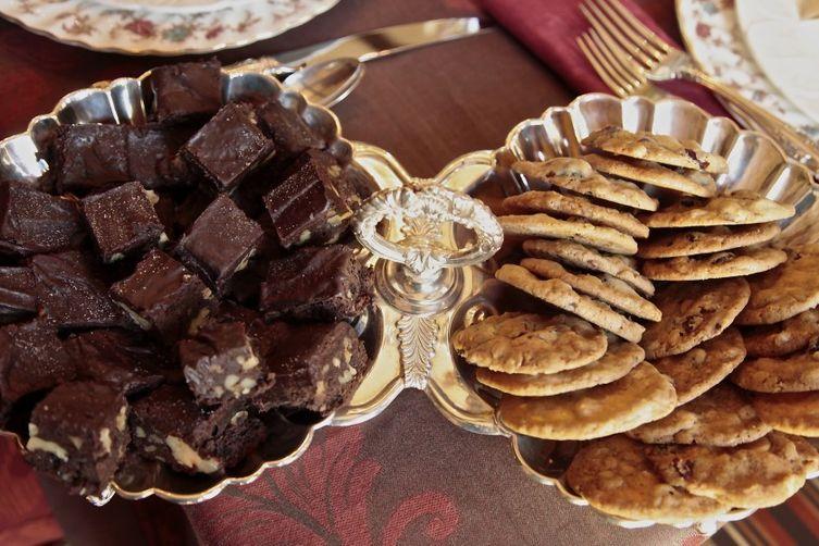 Espresso Brownies with Espresso Ganache