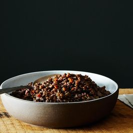 Judy Rodgers' Lentils Braised in Red Wine
