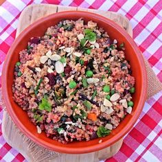 Pink Bulgur Pilaf with Mint and Almonds