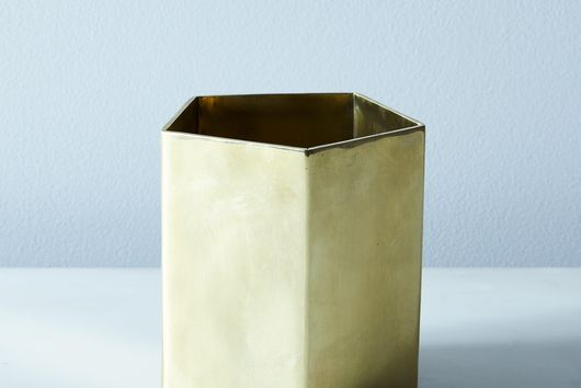 Pure Brass Geometric Planter