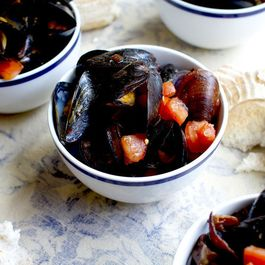 Spicy Mussels with Pancetta and Fresh Tomatoes