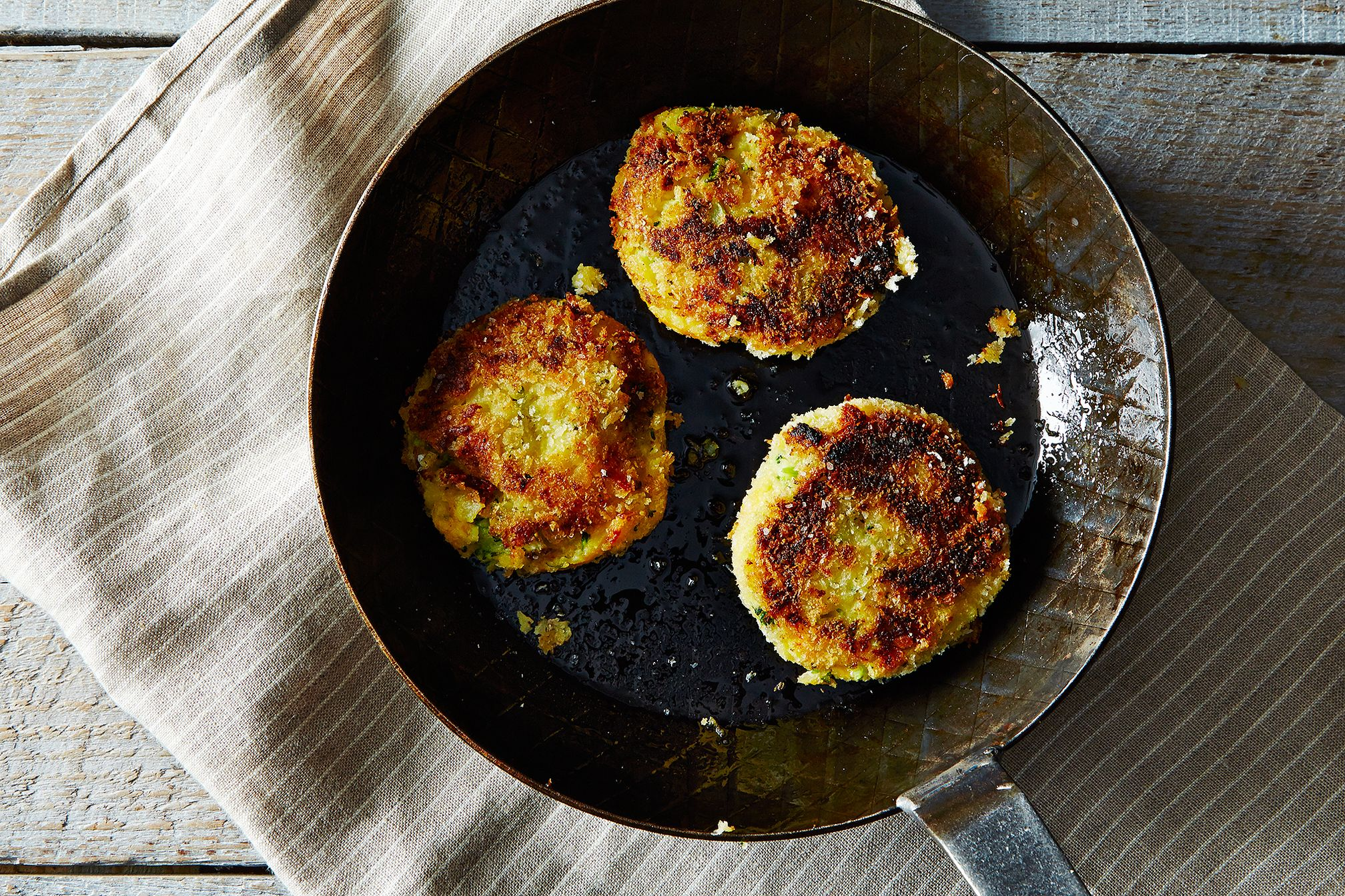 Mashed Potato Cakes with Broccoli and Cheese Recipe on Food52