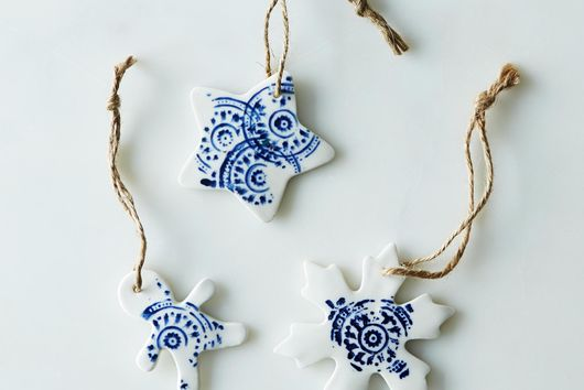 Small Ceramic Ornaments (Set of 3)