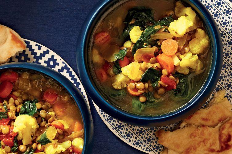 Slow-Cooker Moroccan-Spiced Lentil Soup