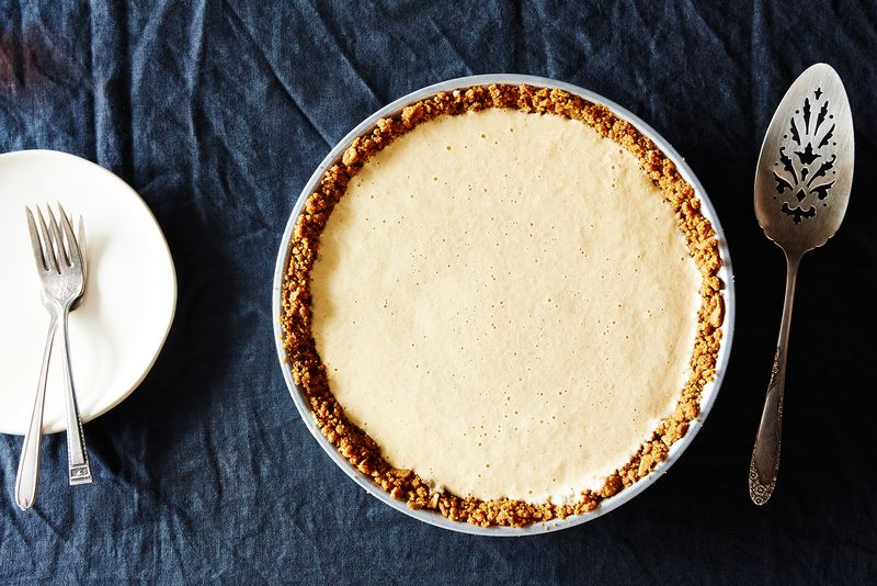 No-bake pumpkin pie (actually, it's the opposite).