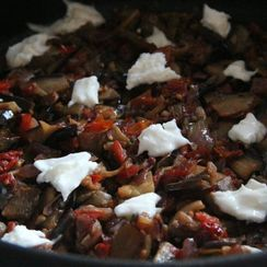 Eggplant with Sundried Tomato and Mozzarella