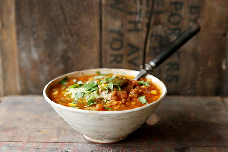 Smoky Red Lentil & Poblano Chili Soup