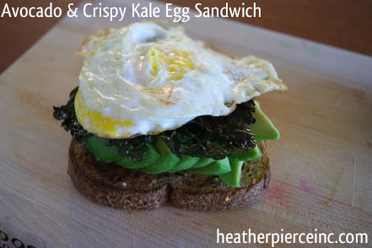 Best Breakfast Ever: Avocado, Egg, & Crispy Kale Sandwich