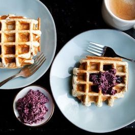 Weekday Waffles with Maple-Blueberry Butter