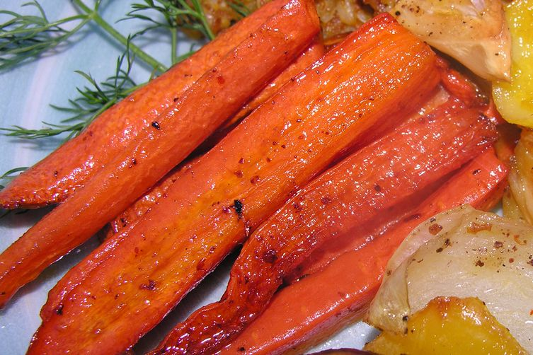 Roast carrots with a few pals