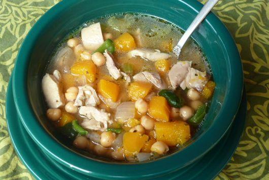 Spicy Butternut Squash & Chicken Soup