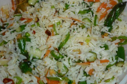 Spring Vegetable Rice Salad