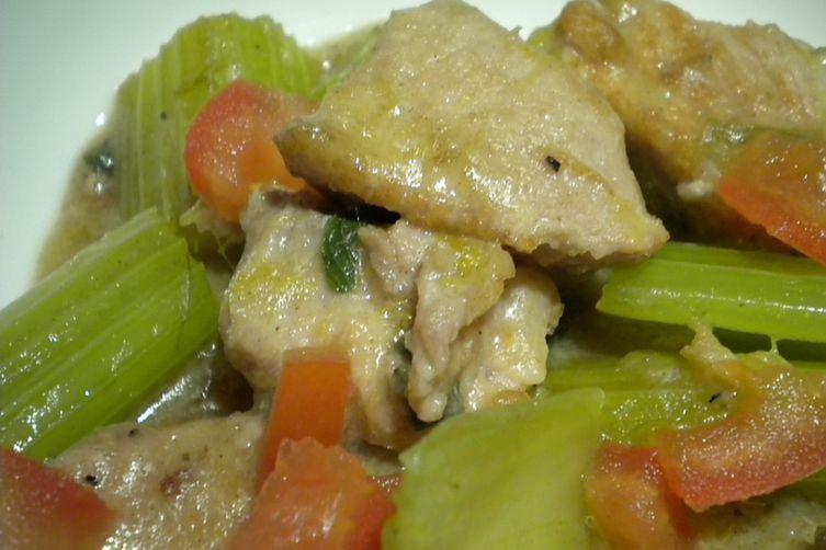 Celery and Pork Stew Taverna Style