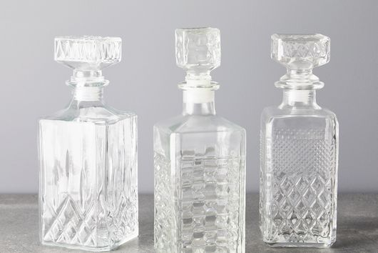 Vintage French Cut Glass Whiskey Decanter