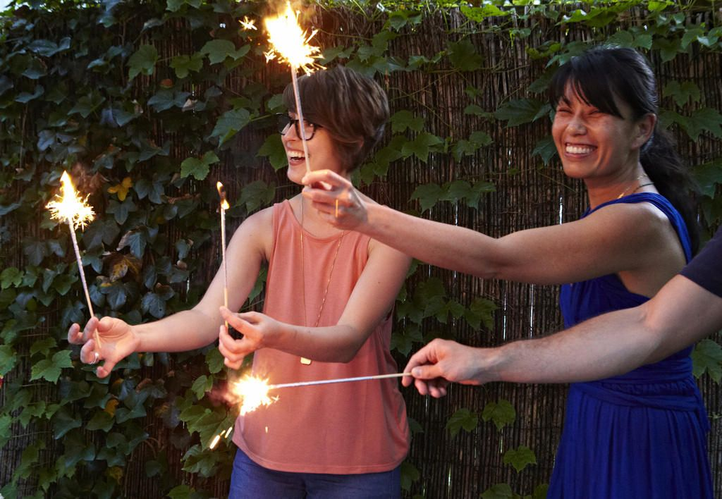 DIY Sparklers by Caitlin Pike, feat. Kenzi Wilbur and Bobbi Lin