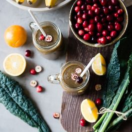 Healing Cranberry Cleanser Green Smoothie