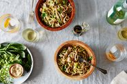 Cold Vegetable and Noodle Salad with Ponzu Dressing