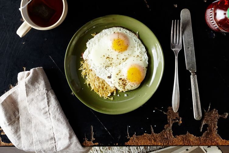 Cheese-Crusted Eggs