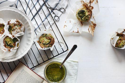 Moufflées - Pesto Soufflé Frittata Muffins