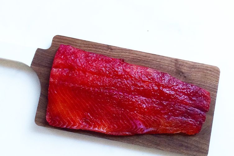 Beet-Cured Salmon
