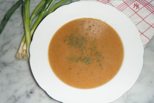 Roasted semolina soup
