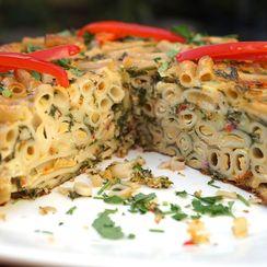 Pasta, Chard & Fontina Torte