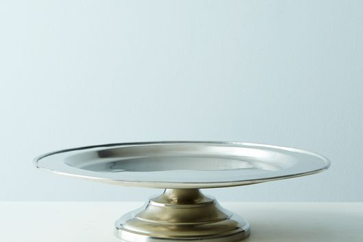 Footed Pewter Serving Platter