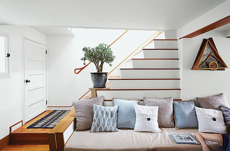 6 home design links we love this week - Living room design with stairs ...