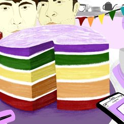 Considering the Rainbow Cake, 40 Years After Gilbert Baker's Flag
