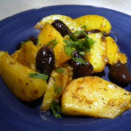Lemon Roasted Potatoes with Kalamatas