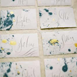 How to Marble Paper for Place Cards
