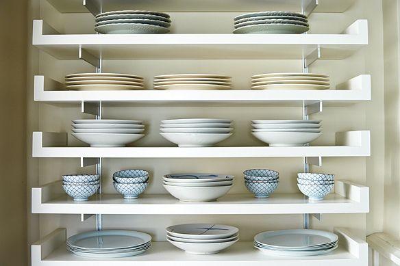 Plate shelves