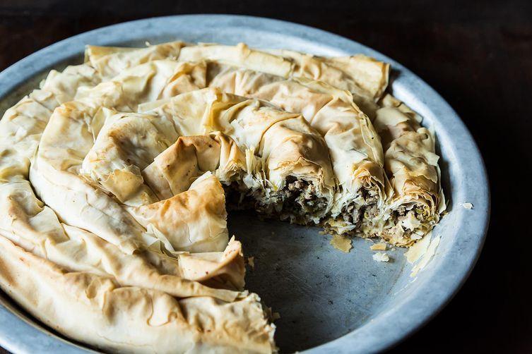 Balkan Lamb and Leek Pie