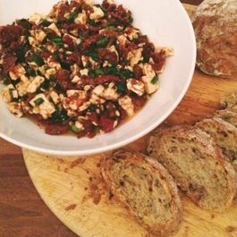 Sundried Tomato and Feta Crostini