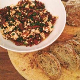 Sundried Tomato and Feta Crostini