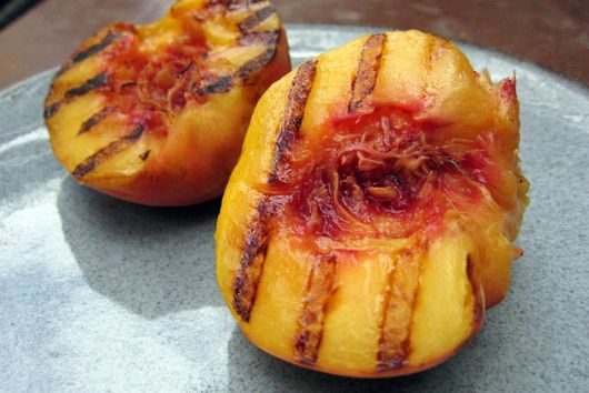 Grilled Peach Sorbet