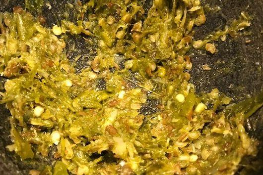 Maharashtrian Green Chile Thecha