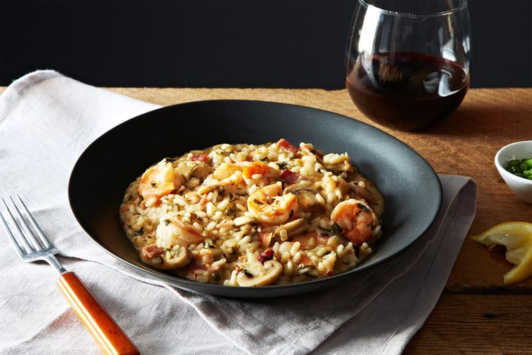 Shrimp and Grits Style Risotto from Food52